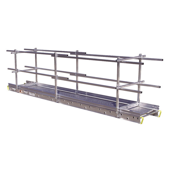 "Werner 3128 Aluminum Stages - 28 Ft Long | 24"" Wide 3-Person 750 lb Capacity"