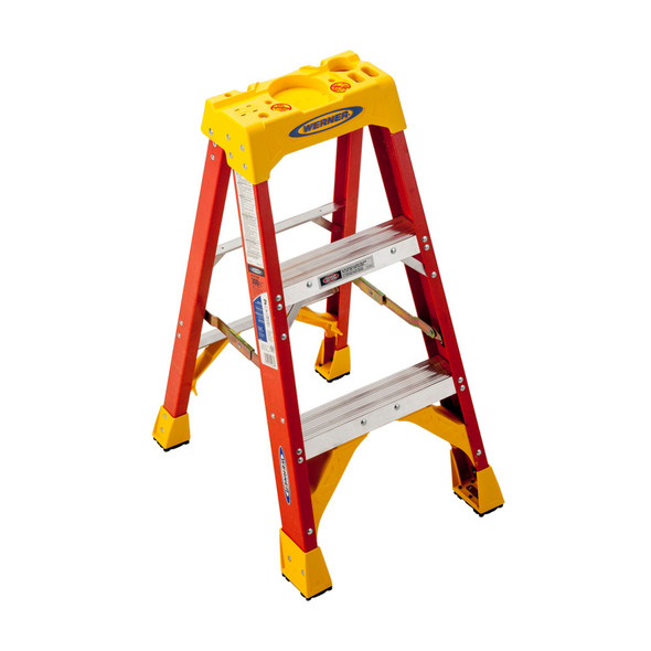 Werner 6203 | 3 Ft Fiberglass Stepladder / 300 lb Rated