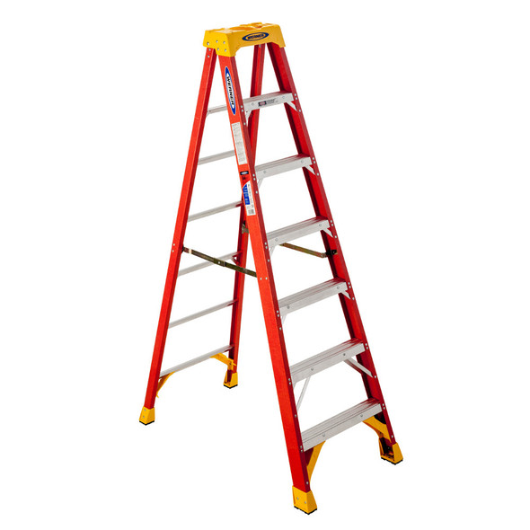 Werner 6207 7 Foot Fiberglass Stepladder