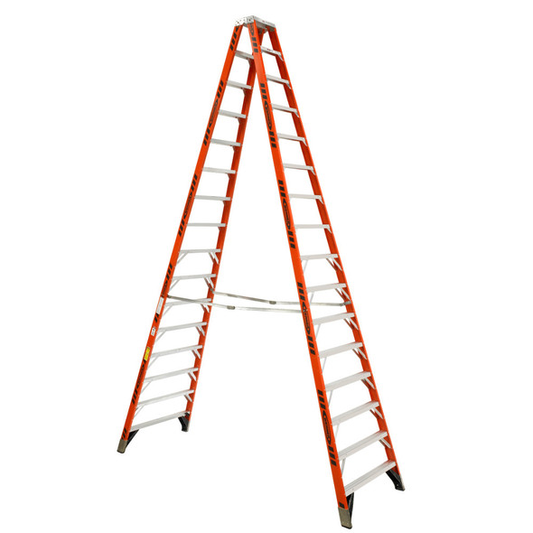 Werner T7416 | 16 Ft Fiberglass Twin Stepladder / Type IA 300 lb Rating