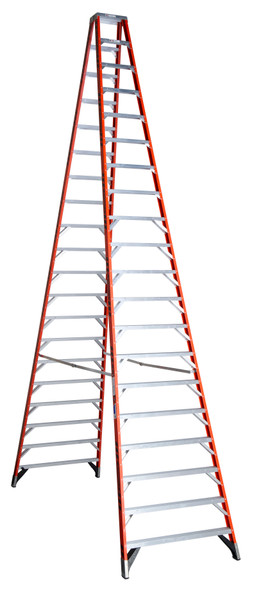 Werner T7420 | 20 Ft Fiberglass Twin Stepladder / Type IA 300 lb Rating