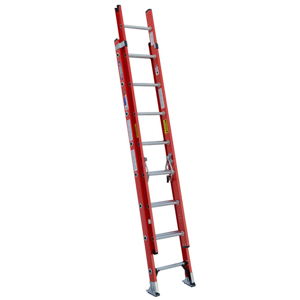 Werner D6216-2 Fiberglass Extension Ladder