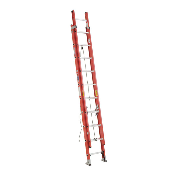 Werner D6220-2 | 20 Ft  Fiberglass D-Rung Ext Ladder / Type IA 300 lb Rating