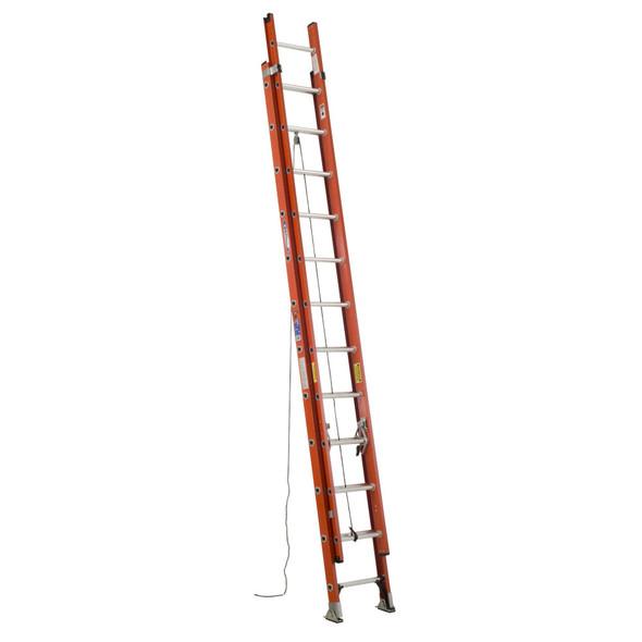 Werner D6224-2 Fiberglass Extension Ladder