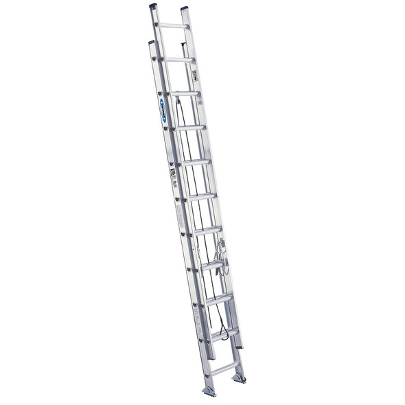 Werner D1520-2 | 20 Ft Aluminum Extension Ladder / Type IA 300 lb Rating