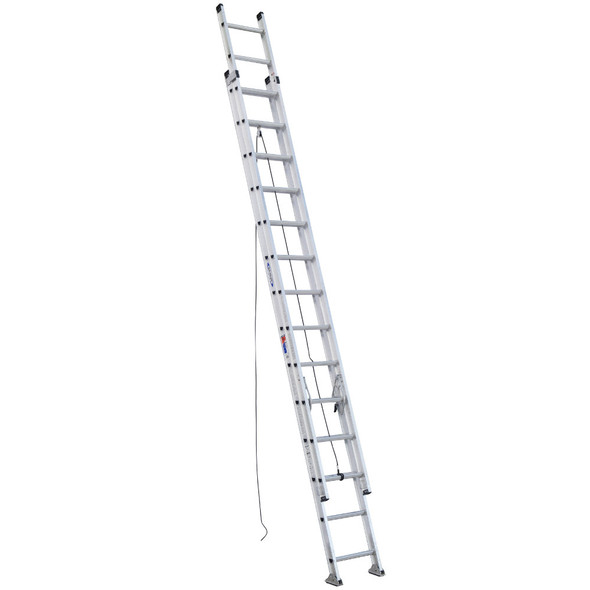 Werner D1528-2 | 28 Ft Aluminum Extension Ladder / Type IA 300 lb Rating