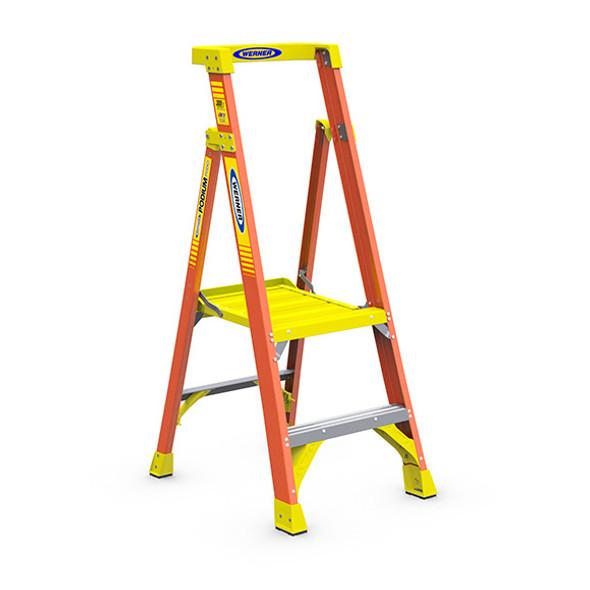 Werner PD6202   2 Ft Fiberglass Podium Ladder / Type IA 300 lb Rating