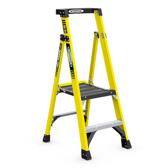 Werner PD7302 | 2 Ft Fiberglass Podium Ladder / Type IAA 375 lb Rating