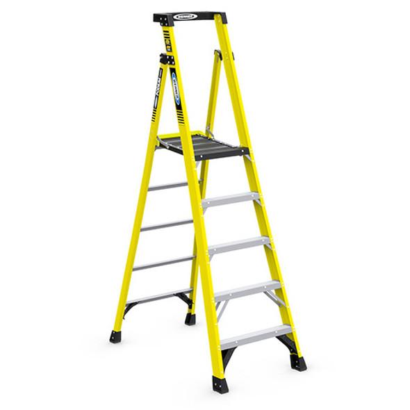 Werner PD7305 | 5 Ft Fiberglass Podium Ladder / Type IAA 375 lb Rating