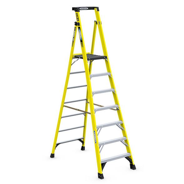 Werner PD7307 | 7 Ft Fiberglass Podium Ladder / Type IAA 375 lb Rating