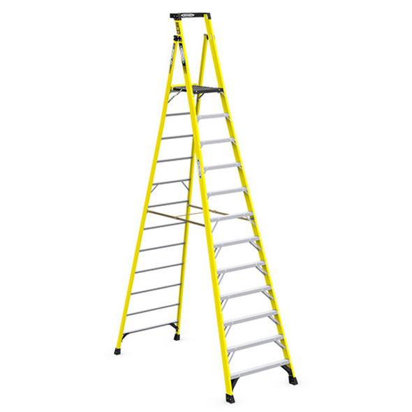 Werner PD7312 | 12 Ft Fiberglass Podium Ladder / Type IAA 375 lb Rating