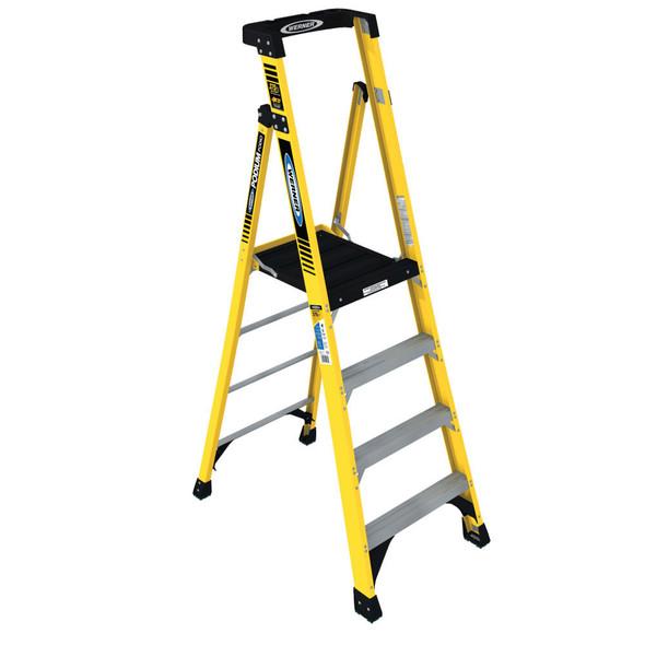 Werner PD7304 | 4 Ft Fiberglass Podium Ladder / Type IAA 375 lb Rating