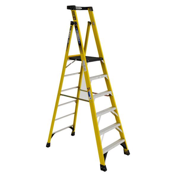 Werner PD7306 | 6 Ft Fiberglass Podium Ladder / Type IAA 375 lb Rating