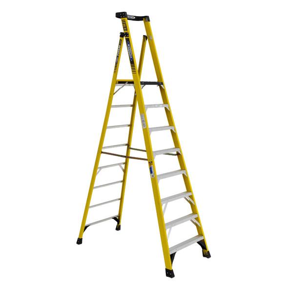 Werner PD7308 | 8 Ft Fiberglass Podium Ladder / Type IAA 375 lb Rating