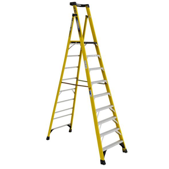 Werner PD7310 | 10 Ft Fiberglass Podium Ladder / Type IAA 375 lb Rating
