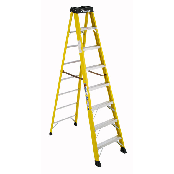 Werner 6108 | 8 Ft Fiberglass Stepladder / Type IA 300 lb Rated