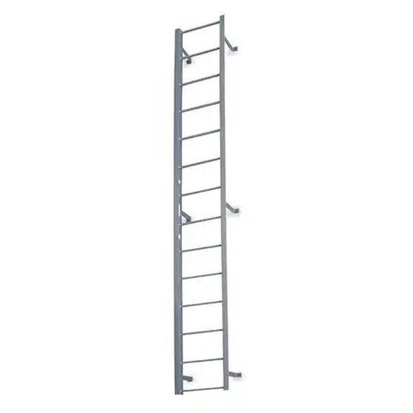 Cotterman - F19S Fixed Steel Ladder | 1 Section / Overall Length 18 Ft 3 In / No Handrail