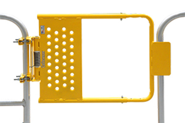 Cotterman SG2440ZC2P1S | Self Closing Adj Safety Gate / Fits Opening 24 - 40 In. / Safety Yellow