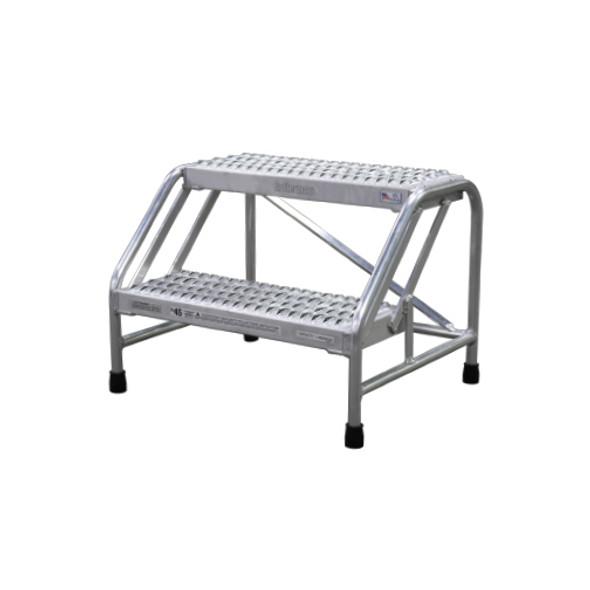 Cotterman 1802N2223A3E10B1C50P6 | Aluminum Step Stand / 2 - Step