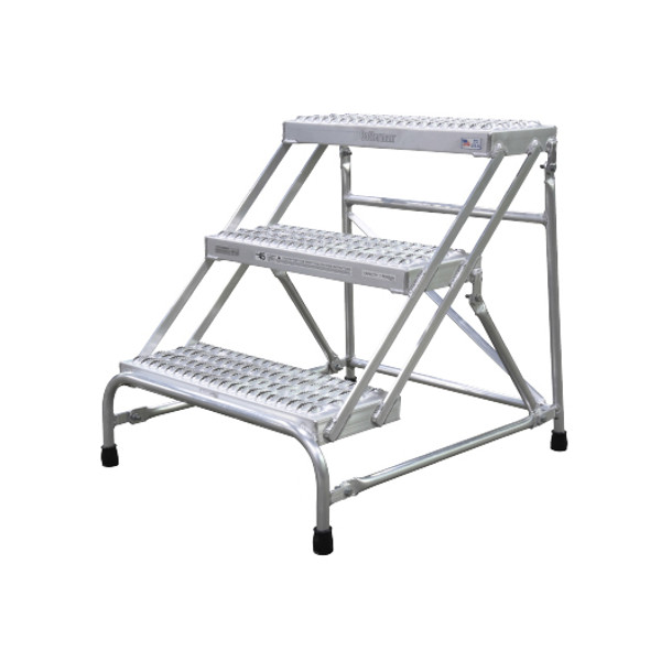 Cotterman 1903N2526A3E10B1C50P1 | Aluminum Step Stand / 3 - Step