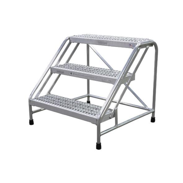 Cotterman 1803N3232A3E10B1C50P1 | Aluminum Step Stand / 3 - Step