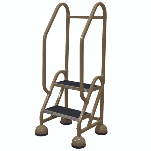 Cotterman ST-201 A2 XX P5 | MasterStep Office Ladder / 2 - Step / 18 In Platform Height / 48 In Overall Height / Double Handrail