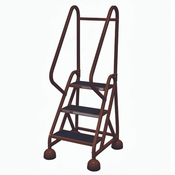 Cotterman ST-301 A2 XX P5 | MasterStep Office Ladder / 3 - Step / 27 In Platform Height / 57 In Overall Height / Double Handrail