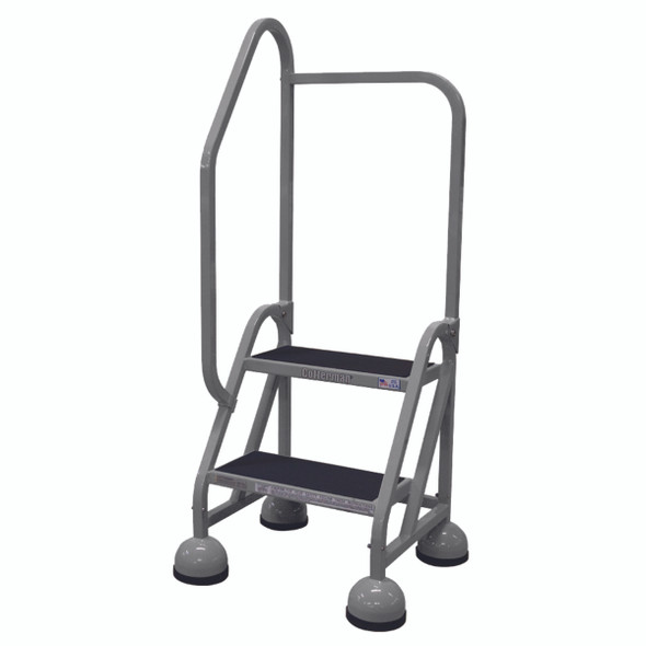 Cotterman ST-202 A2 XX P5 | MasterStep Office Ladder / 2 - Step / 18 In Platform Height / 48 In Overall Height / Left Handrail
