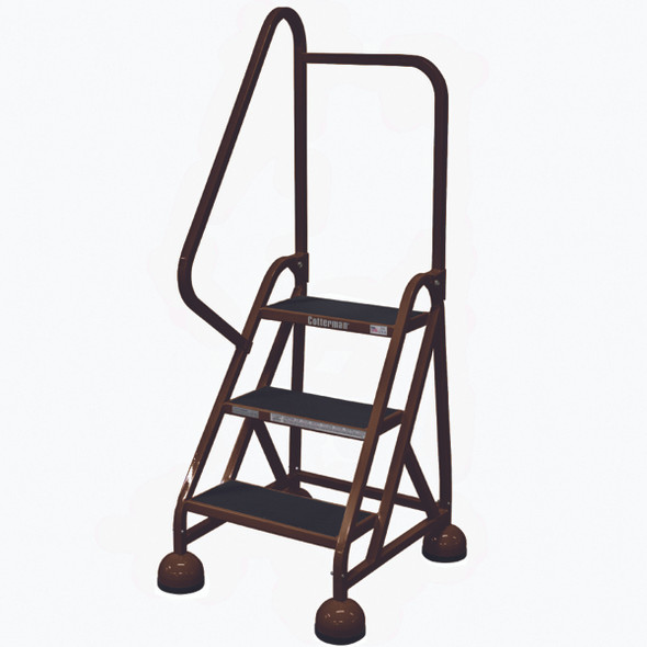 Cotterman ST-302 A2 XX P5 | MasterStep Office Ladder / 3 - Step / 27 In Platform Height / 57 In Overall Height / Left Handrail