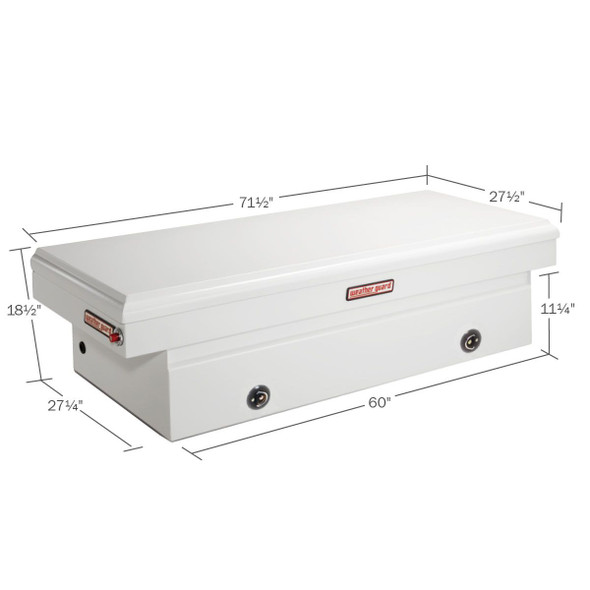 WeatherGuard Model 116-X-02 Saddle Box, Steel, Full Extra Wide, 15.3 cu ft