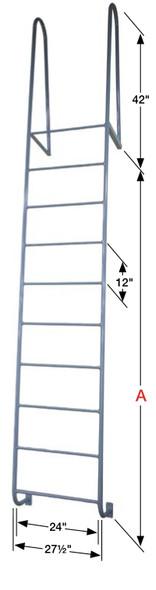 Cotterman - D2WT | Walk-thru Dock Ladder / 2-rung / 300 lb. Rating