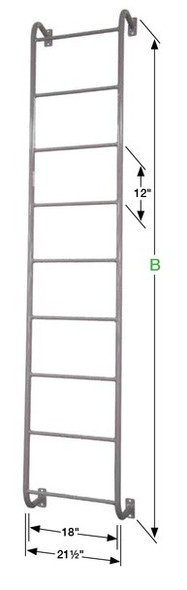 Cotterman - D7SS |Side-Step Dock Ladder / Number of Step Rungs - 7 / 300 lb. Rating