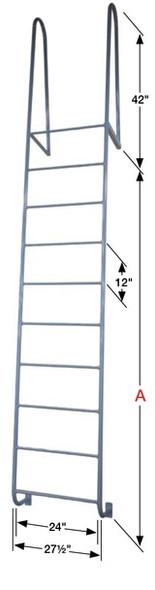Cotterman - D6WT | Walk-thru Dock Ladder / 6-rung / 300 lb. Rating