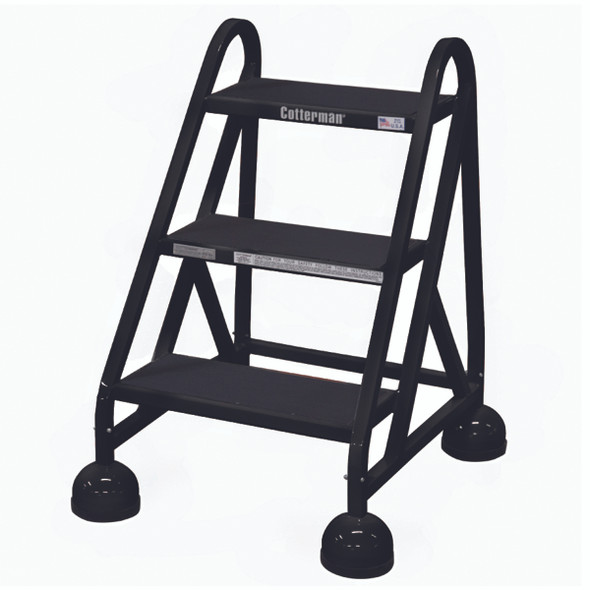 Cotterman AM-300 A2 XX P5 | Aluminum MasterStep Office Ladder / 3 - Step / 27 In Platform Height / 27 In Overall Height / No Handrail