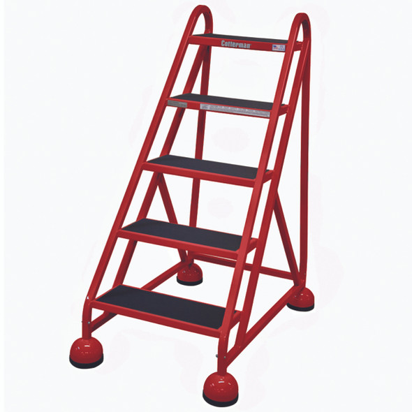 Cotterman AM-500 A2 XX P5 | Aluminum MasterStep Office Ladder / 5 - Step / 45 In Platform Height / 45 In Overall Height / No Handrail
