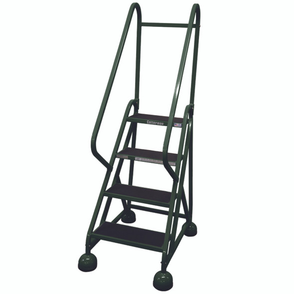 Cotterman AM-401 A2 XX P5 | Aluminum MasterStep Office Ladder / 4 - Step / 36 In Platform Height / 66 In Overall Height / Double Handrail