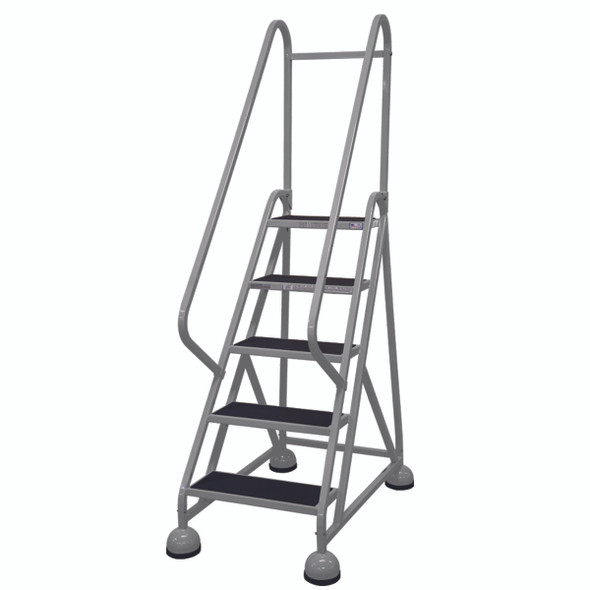 Cotterman AM-501 A2 XX P5 | Aluminum MasterStep Office Ladder / 5 - Step / 45 In Platform Height / 75 In Overall Height / Double Handrail