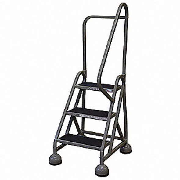 Cotterman AM-303 A2 XX P5 | Aluminum MasterStep Office Ladder / 3 - Step / 27 In Platform Height / 57 In Overall Height / Right Handrail