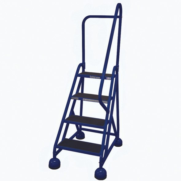 Cotterman AM-403 A2 XX P5 | Aluminum MasterStep Office Ladder / 4 - Step / 36 In Platform Height / 66 In Overall Height / Right Handrail