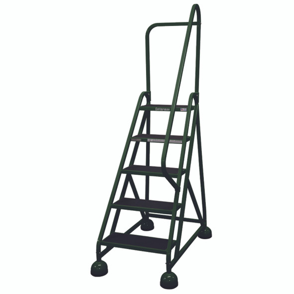 Cotterman AM-503 A2 XX P5 | Aluminum MasterStep Office Ladder / 5 - Step / 45 In Platform Height / 75 In Overall Height / Right Handrail