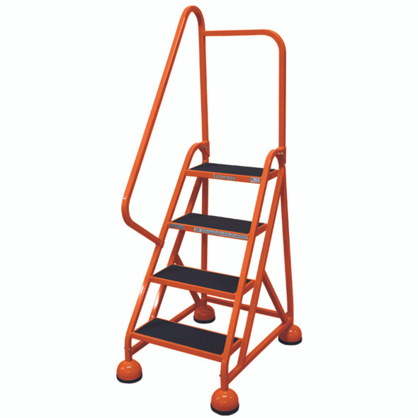 Cotterman AM-402 A2 XX P5 | Aluminum MasterStep Office Ladder / 4 - Step / 36 In Platform Height / 66 In Overall Height / Left Handrail