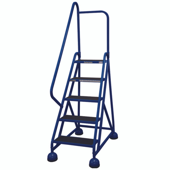 Cotterman AM-502 A2 XX P5 | Aluminum MasterStep Office Ladder / 5 - Step / 45 In Platform Height / 75 In Overall Height / Left Handrail