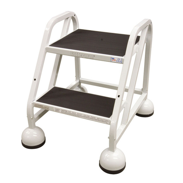 Cotterman AM-220 A2 XX P5 | MasterStep Office Ladder / 2 - Step / 18 In Platform Height / 18 In Overall Height / Double Top Step / No Handrail