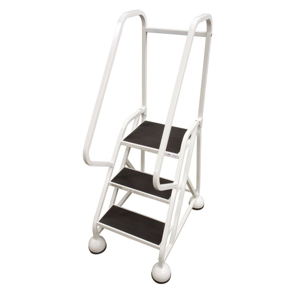 Cotterman AM-321 A2 XX P5 | MasterStep Office Ladder / 3 - Step / 27 In Platform Height / 57 In Overall Height / Double Top Step / Double Handrail