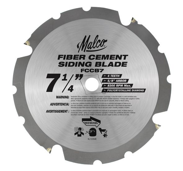 """Malco Tool #FCCB7 Circ Saw Blade, FC, 7.25"""""""