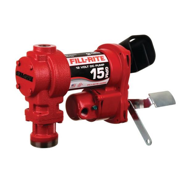 Fill-Rite FR1204H 15 GPM, 12V DC Pump, 5' Ground Wire, No Accessories.