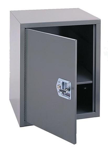 Adrian Steel #1 Adjustable Single Shelf Cabinet w/ Lock, 18W X 22H X 18D, Gray