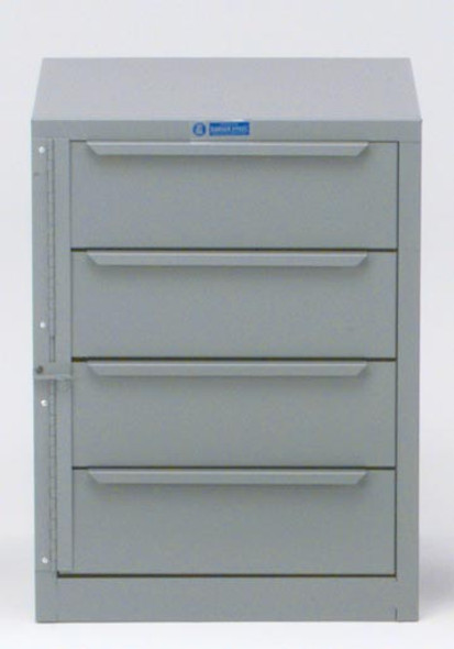 Adrian Steel #2 4-Drawer Unit, 18W X 24H X 18D, Gray