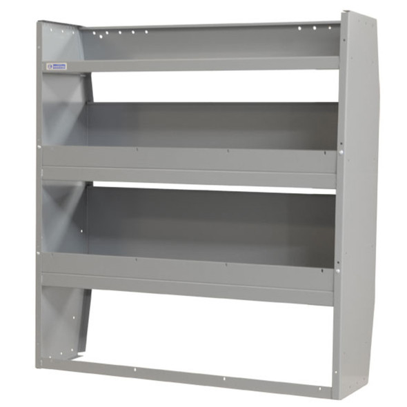Adrian Steel #4442 Welded 3-Shelf Unit, 42w x 46h x 14d, Gray