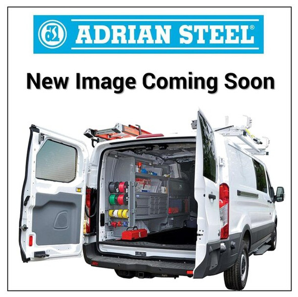 """Adrian Steel #37111-G Passenger Side Partition Closeout Panel w/ Visibil, 3"""" Setback, Gray, Express, Savana"""